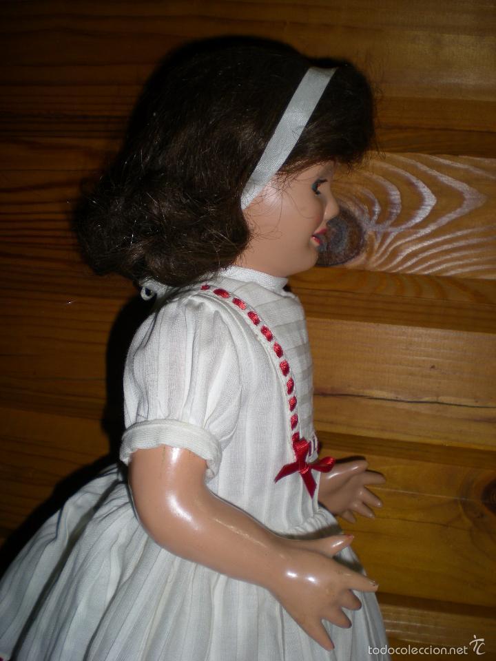 Muñeca española clasica: muñeca carton piedra de origen en pelo natural goyita marca las meninas onil años 50 - Foto 14 - 40878003