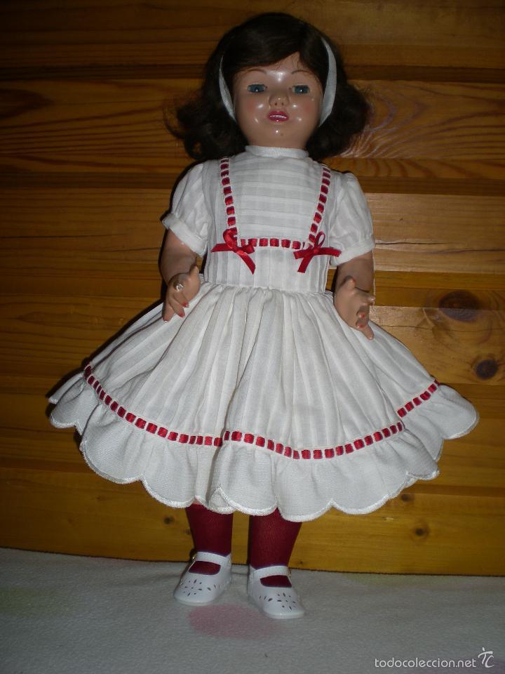 Muñeca española clasica: muñeca carton piedra de origen en pelo natural goyita marca las meninas onil años 50 - Foto 15 - 40878003