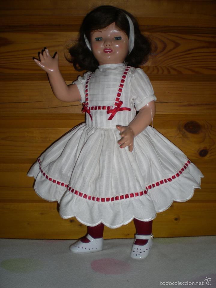 Muñeca española clasica: muñeca carton piedra de origen en pelo natural goyita marca las meninas onil años 50 - Foto 16 - 40878003