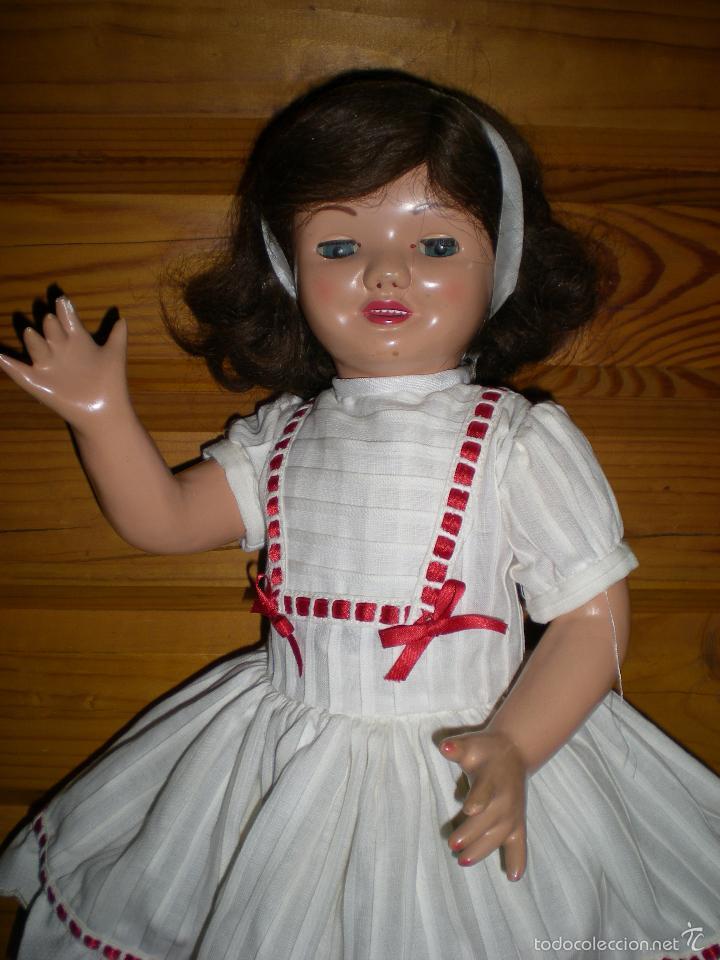 Muñeca española clasica: muñeca carton piedra de origen en pelo natural goyita marca las meninas onil años 50 - Foto 17 - 40878003
