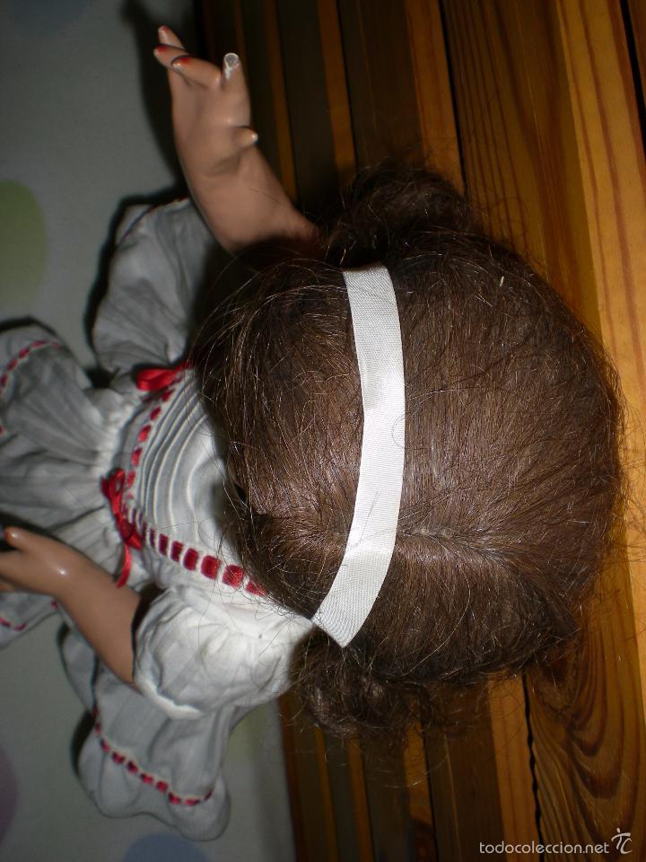 Muñeca española clasica: muñeca carton piedra de origen en pelo natural goyita marca las meninas onil años 50 - Foto 18 - 40878003