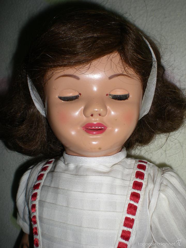 Muñeca española clasica: muñeca carton piedra de origen en pelo natural goyita marca las meninas onil años 50 - Foto 19 - 40878003