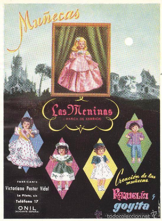 Muñeca española clasica: muñeca carton piedra de origen en pelo natural goyita marca las meninas onil años 50 - Foto 23 - 40878003