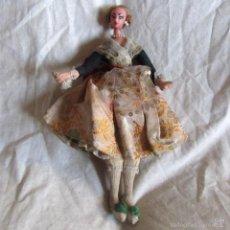 Muñeca española clasica: MUÑECA FALLERA PIERNAS Y BRAZOS TELA PRENSADA Y CUERPO Y CABEZA PLÁSTICO 30 CM DE ALTA. Lote 57221015