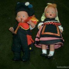 Muñeca española clasica: PAREJA DE MUÑECOS EN TERRACOTA GALLEGOS, CA8. Lote 57227199