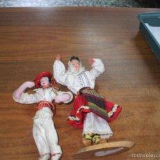 Muñeca española clasica: PAREJA DE MUÑECOS VASCOS AÑOS 60 CASA MARIN ,MIDEN SOBRE 20 CENTI. Lote 57497600