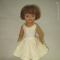 Muñeca española clasica: ANTIGUA MUÑECA ESPAÑOLA EN CELULOIDE PELO NATURAL Y OJOS DURMIENTES - AÑO 1950S.. Lote 57529493