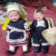 Muñeca española clasica: PAREJA MUÑEQUITOS AÑOS 50-60. Lote 57538521