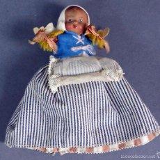 Muñeca española clasica: MUÑECA TERRACOTA REVERSIBLE NEGRA Y BLANCA AÑOS 40 50 . Lote 57724528