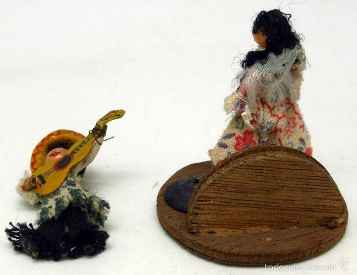 Muñeca española clasica: Pareja mexicanos madera pintada Monllor Denia años 50 - Foto 2 - 57726791