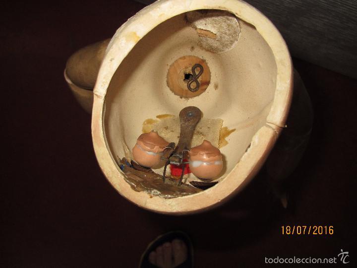 Muñeca española clasica: Antigua Muñeca Totalmente Articulada en Composición y Ojos Durmientes de Cristal - Altura 57 cm. - Foto 10 - 58130052