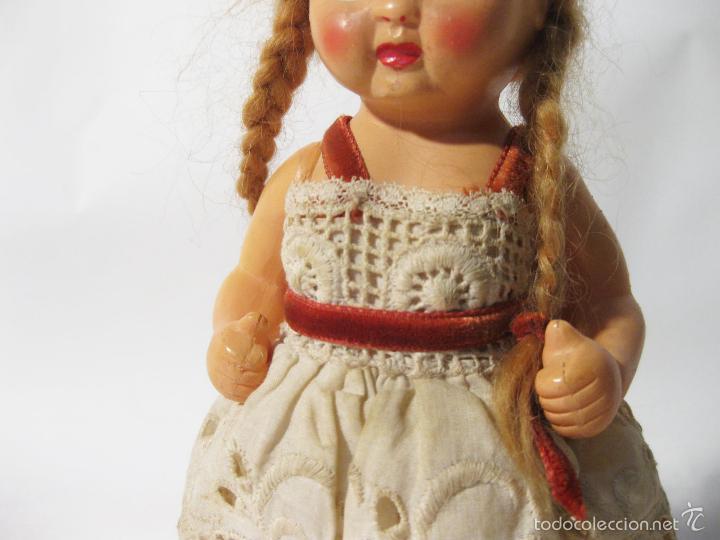 Muñeca española clasica: MUÑECA DE PLASTICO DURO DE LOS AÑOS 50. MIDE 20 CMS DE ALTO - Foto 3 - 58146200