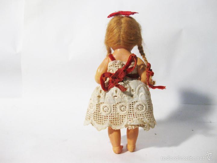 Muñeca española clasica: MUÑECA DE PLASTICO DURO DE LOS AÑOS 50. MIDE 20 CMS DE ALTO - Foto 5 - 58146200