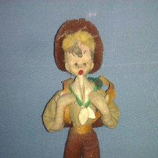 Muñeca española clasica - MUY, MUY ANTIGUO MUÑECO DE FIELTRO PAISANO DEL CAMINO DE PRINCIPIOS DEL SIGLO XX - 58191537
