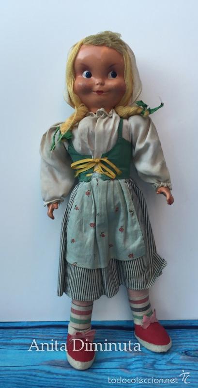 Muñeca española clasica: ANTIGUA RARISIMA Y PRECIOSA MUÑECA - TOMASITA - VESTIDA DE SIRVIENTA DE GONZALIN - AÑOS 40 - CARA DE - Foto 2 - 58503575