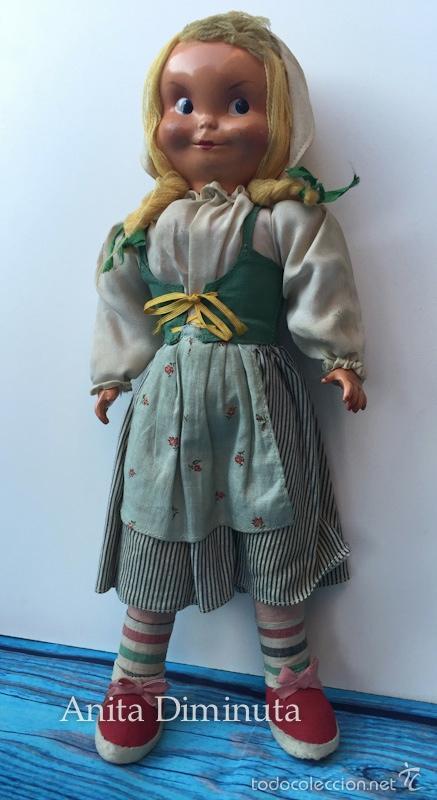 Muñeca española clasica: ANTIGUA RARISIMA Y PRECIOSA MUÑECA - TOMASITA - VESTIDA DE SIRVIENTA DE GONZALIN - AÑOS 40 - CARA DE - Foto 3 - 58503575