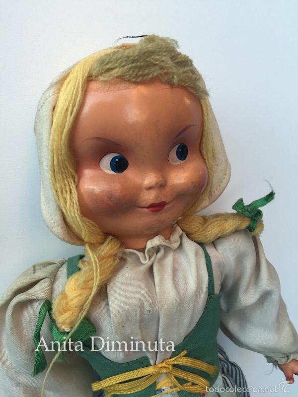 Muñeca española clasica: ANTIGUA RARISIMA Y PRECIOSA MUÑECA - TOMASITA - VESTIDA DE SIRVIENTA DE GONZALIN - AÑOS 40 - CARA DE - Foto 5 - 58503575