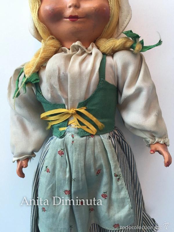 Muñeca española clasica: ANTIGUA RARISIMA Y PRECIOSA MUÑECA - TOMASITA - VESTIDA DE SIRVIENTA DE GONZALIN - AÑOS 40 - CARA DE - Foto 7 - 58503575