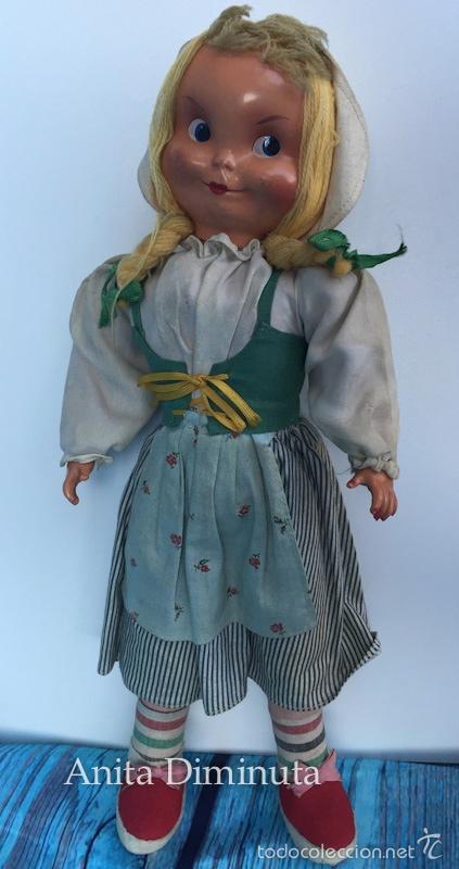 Muñeca española clasica: ANTIGUA RARISIMA Y PRECIOSA MUÑECA - TOMASITA - VESTIDA DE SIRVIENTA DE GONZALIN - AÑOS 40 - CARA DE - Foto 10 - 58503575