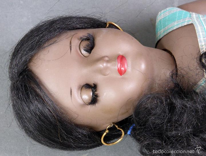 Muñeca española clasica: Linda Negra ICSA celuloide JC SA ropa original Ojo durmiente años 50 49 cm alto - Foto 8 - 58581040