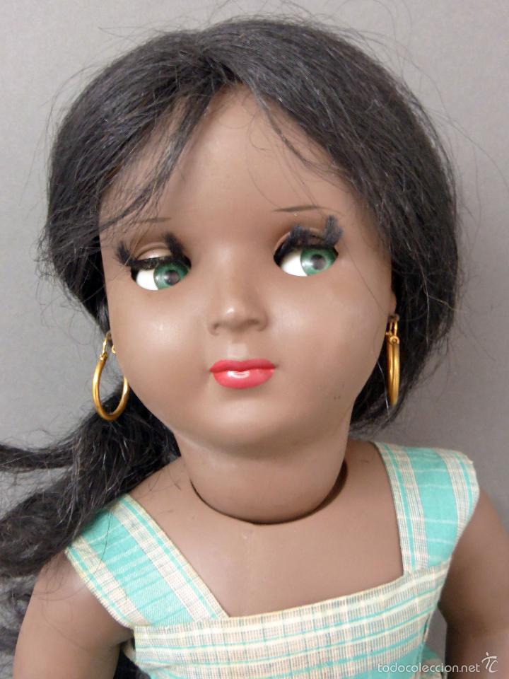 Muñeca española clasica: Linda Negra ICSA celuloide JC SA ropa original Ojo durmiente años 50 49 cm alto - Foto 13 - 58581040