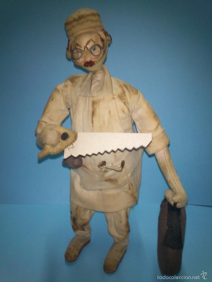 ANTIGUO MUÑECO ROLDAN CIRUJANO, DE TELA Y ALAMBRE AÑOS 50 (Juguetes - Otras Muñecas Españolas Clásicas (Hasta 1.960))
