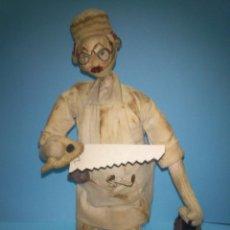 Muñeca española clasica: ANTIGUO MUÑECO ROLDAN CIRUJANO, DE TELA Y ALAMBRE AÑOS 50 . Lote 58874761