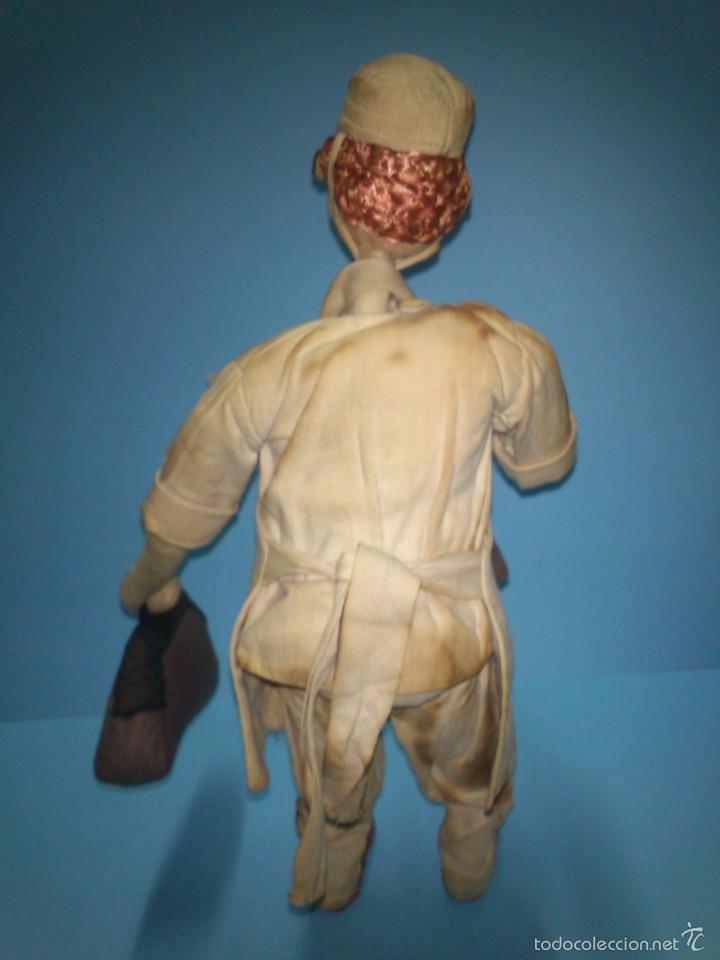 Muñeca española clasica: ANTIGUO MUÑECO ROLDAN CIRUJANO, DE TELA Y ALAMBRE AÑOS 50 - Foto 2 - 58874761