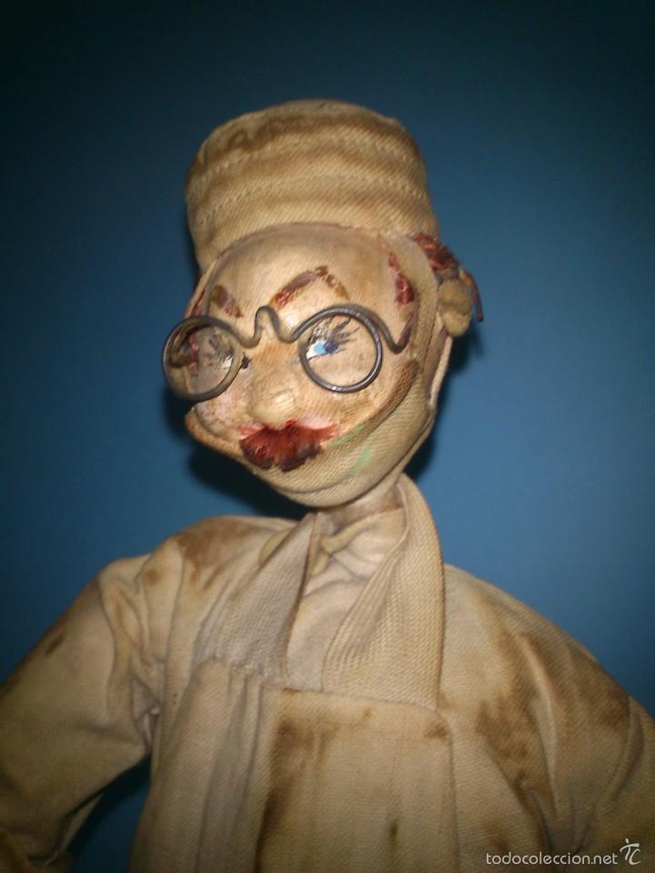 Muñeca española clasica: ANTIGUO MUÑECO ROLDAN CIRUJANO, DE TELA Y ALAMBRE AÑOS 50 - Foto 3 - 58874761