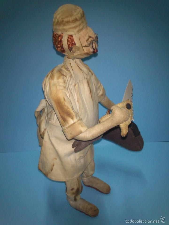 Muñeca española clasica: ANTIGUO MUÑECO ROLDAN CIRUJANO, DE TELA Y ALAMBRE AÑOS 50 - Foto 4 - 58874761