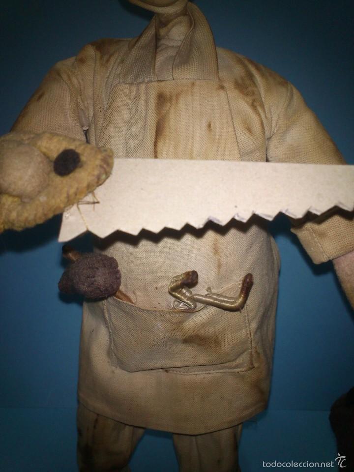 Muñeca española clasica: ANTIGUO MUÑECO ROLDAN CIRUJANO, DE TELA Y ALAMBRE AÑOS 50 - Foto 5 - 58874761