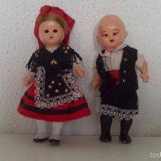 Muñeca española clasica: PAREJA DE MUÑECOS CON TRAJE REGIONAL, ORIGINAL AÑOS 50/60. Lote 60275067