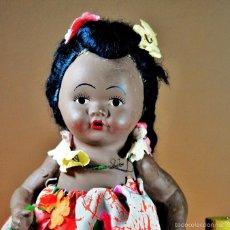 Muñeca española clasica: MUÑECA NEGRITA EN TERRACOTA AÑOS 50 .. Lote 61152087