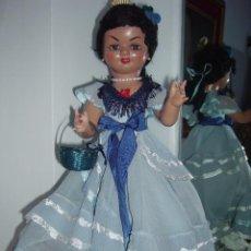 Muñeca española clasica: MUÑECA ESPAÑOLA DE SANTIAGO MOLINA, CARTÓN PIEDRA, AÑOS 40/50. Lote 61213447