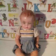 Muñeca española clasica: MUÑECO ARTURITO CABEZA DE CERAMICA Y CUERPO CARTÓN PIEDRA. Lote 61257167