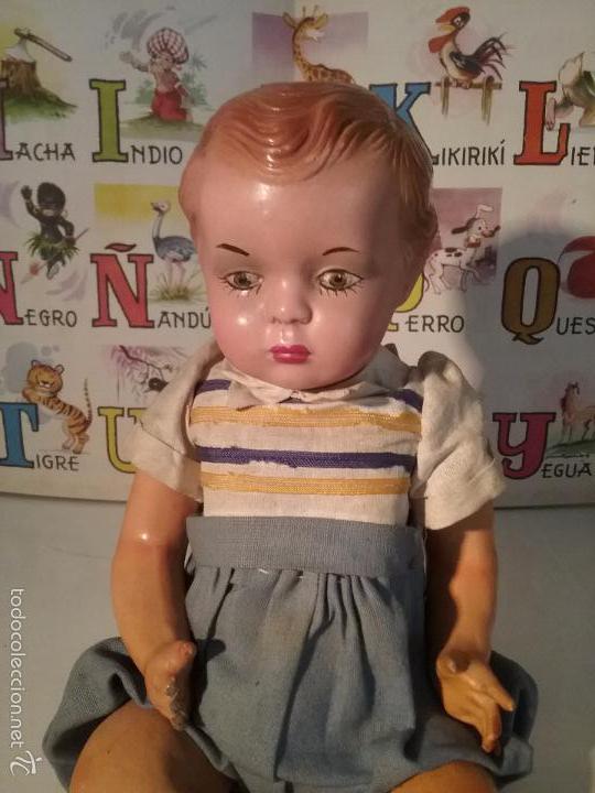 Muñeca española clasica: MUÑECO ARTURITO CABEZA DE CERAMICA Y CUERPO CARTÓN PIEDRA - Foto 2 - 61257167
