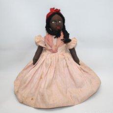 Muñeca española clasica: MUÑECA DOBLE. BLANCA Y NEGRA. TRAPO. CASA PAGÉS. BUEN ESTADO. AÑOS 30. Lote 43330416