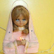 Muñeca española clasica: MUÑECA LINDA PIRULA VIRGEN MARIA CON LUZ - AÑOS 60. Lote 61754184