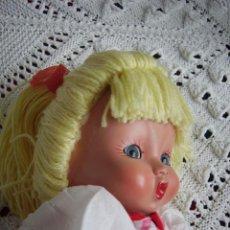 Muñeca española clasica: ANTIGUA MUÑECA ESPAÑOLA. AÑOS 40/50 MUY PARECIDA A MARI PEPA MENDOZA. OJOS DE CRISTAL. Lote 61835280
