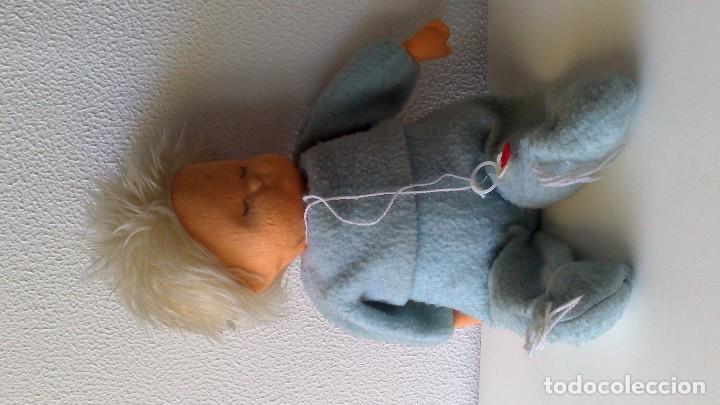 Muñeca española clasica: muñeco bebé de fieltro, original años 50/60 - Foto 2 - 62543408