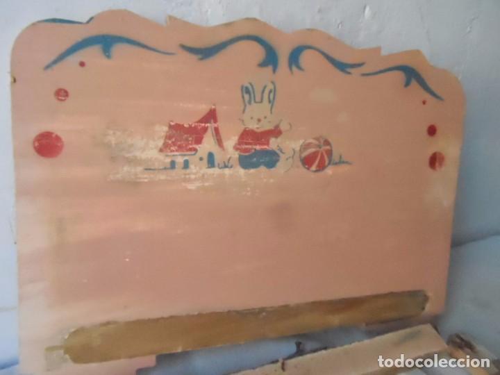 Muñeca española clasica: juguete madera denia cama para muñeca antigua para restaurar - Foto 2 - 62776584