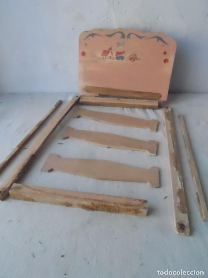 Muñeca española clasica: juguete madera denia cama para muñeca antigua para restaurar - Foto 3 - 62776584