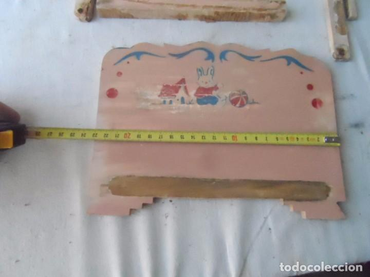 Muñeca española clasica: juguete madera denia cama para muñeca antigua para restaurar - Foto 5 - 62776584