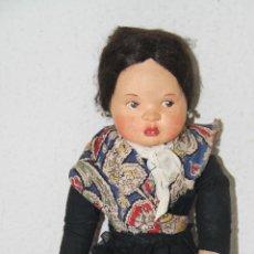 Muñeca española clasica: MU119 MUÑECA TIPO LENCI. TRAPO. PINTADA A MANO. 33 CM. AÑOS 40. Lote 63168220