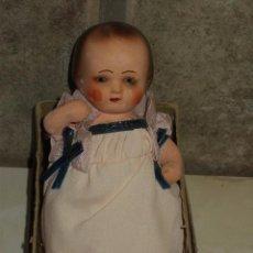 Muñeca española clasica: ANTIGUO MUÑECO, BEBE DE BARRO O TERRACOTA ,AÑOS 30-40.. Lote 63260300