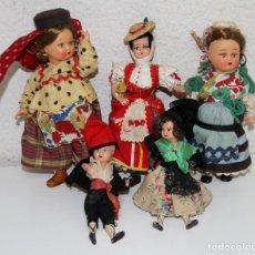 Muñeca española clasica: MU127 LOTE DE MUÑECOS MINIATURA. CELULOIDE. ESPAÑA. AÑOS 50. Lote 63294208
