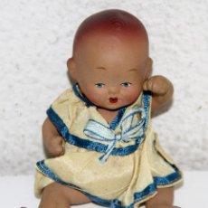 Muñeca española clasica: MU136 MUÑECO BEBÉ. TERRACOTA. PINTADO A MANO. ESPAÑA. AÑOS 30. Lote 64939747