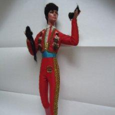 Muñeca española clasica: MUÑECO VESTIDO DE TORERO DE GRAN TAMAÑO. MARCA GRAIN TRIUNFADOR. AÑOS 50-60. Lote 65984502
