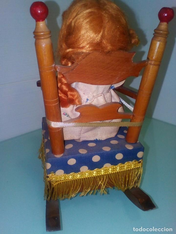 Muñeca española clasica: Muñeca de terracota con su mecedora original años 40/50 - Foto 2 - 66061774