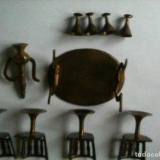 Muñeca española clasica: JUEGO MOBILARIO METAL CASITA DE MUÑECAS. Lote 66104542